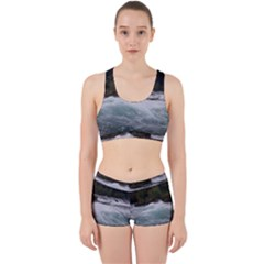 Sightseeing At Niagara Falls Work It Out Sports Bra Set