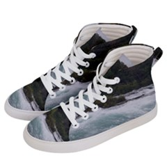 Sightseeing At Niagara Falls Women s Hi Top Skate Sneakers by canvasngiftshop