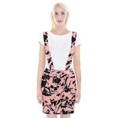 Old Rose Black Abstract Military Camouflage Braces Suspender Skirt