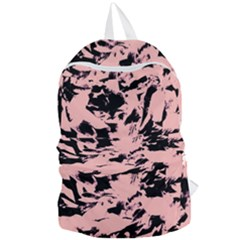 Old Rose Black Abstract Military Camouflage Foldable Lightweight Backpack