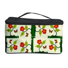 Plants And Flowers Cosmetic Storage Case by linceazul
