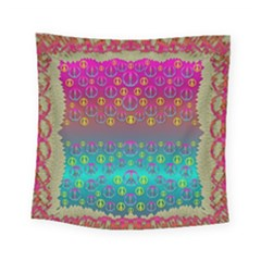 Years Of Peace Living In A Paradise Of Calm And Colors Square Tapestry (small) by pepitasart
