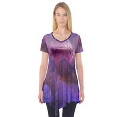 Ultra Violet Dream Girl Short Sleeve Tunic  by 8fugoso
