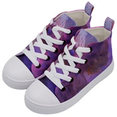 Ultra Violet Dream Girl Kid s Mid Top Canvas Sneakers by 8fugoso