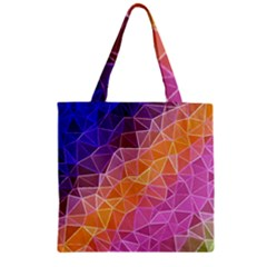 Crystalized Rainbow Zipper Grocery Tote Bag by 8fugoso