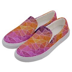 Crystalized Rainbow Men s Canvas Slip Ons by 8fugoso