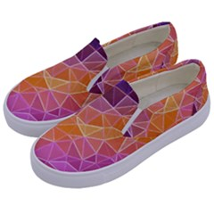 Crystalized Rainbow Kids  Canvas Slip Ons by 8fugoso