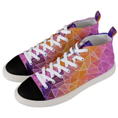 Crystalized Rainbow Men s Mid Top Canvas Sneakers by 8fugoso