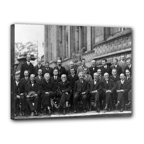 1927 Solvay Conference On Quantum Mechanics Canvas 16  X 12  by thearts