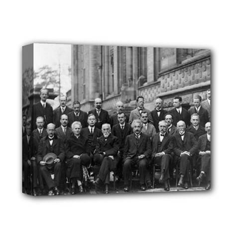 1927 Solvay Conference On Quantum Mechanics Deluxe Canvas 14  X 11  by thearts