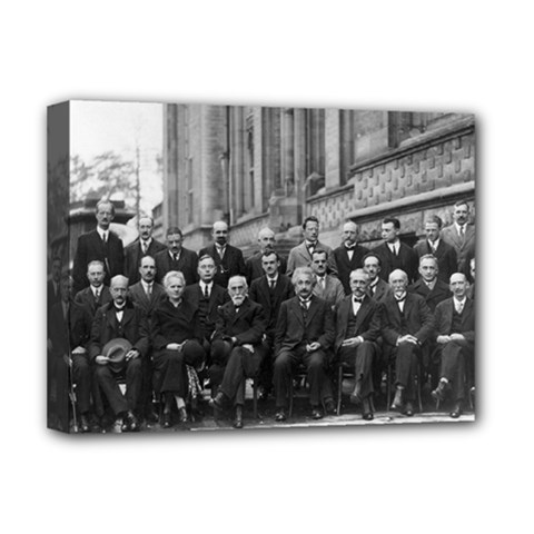 1927 Solvay Conference On Quantum Mechanics Deluxe Canvas 16  X 12   by thearts