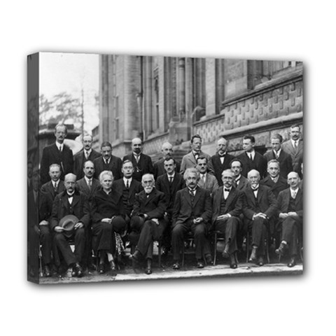 1927 Solvay Conference On Quantum Mechanics Deluxe Canvas 20  X 16   by thearts