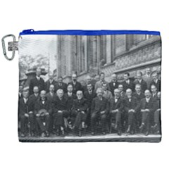 1927 Solvay Conference On Quantum Mechanics Canvas Cosmetic Bag (xxl) by thearts