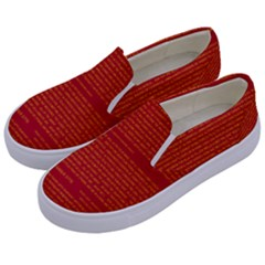 Mrtacpans Writing Grace Kids  Canvas Slip Ons by MRTACPANS