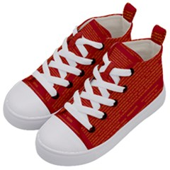 Mrtacpans Writing Grace Kid s Mid Top Canvas Sneakers by MRTACPANS