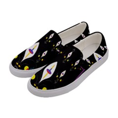 Quebec With Love Women s Canvas Slip Ons by MRTACPANS