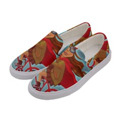Girl On A Bike Women s Canvas Slip Ons by chipolinka