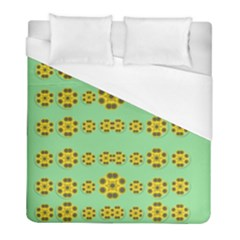 Sun Flowers For The Soul At Peace Duvet Cover (full/ Double Size) by pepitasart
