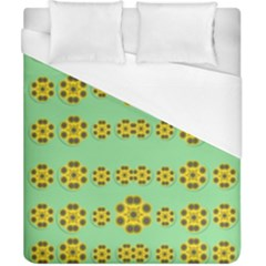 Sun Flowers For The Soul At Peace Duvet Cover (california King Size) by pepitasart