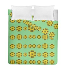 Sun Flowers For The Soul At Peace Duvet Cover Double Side (full/ Double Size) by pepitasart