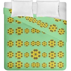 Sun Flowers For The Soul At Peace Duvet Cover Double Side (king Size) by pepitasart