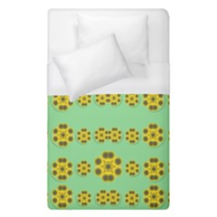 Sun Flowers For The Soul At Peace Duvet Cover (single Size) by pepitasart