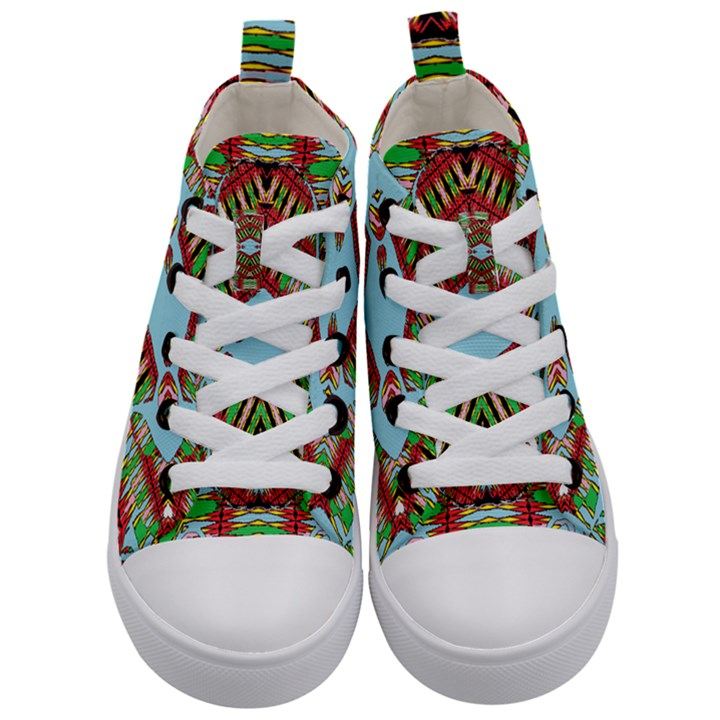 Digital Dot One Kid s Mid-Top Canvas Sneakers
