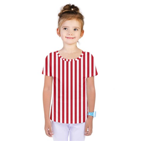Red Stripes Kids  One Piece Tee by jumpercat