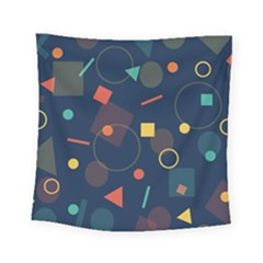 Blue Background Backdrop Geometric Square Tapestry (small) by Nexatart