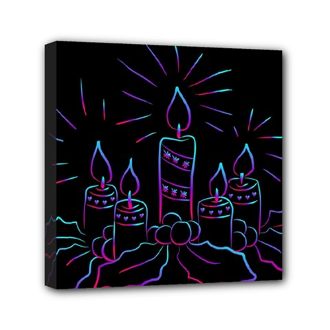 Advent Wreath Candles Advent Canvas Travel Bag