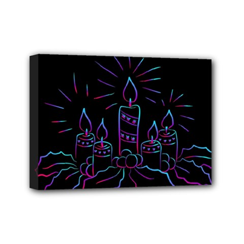 Advent Wreath Candles Advent Mini Canvas 7  X 5  by Nexatart