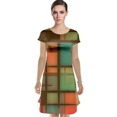 Background Abstract Colorful Cap Sleeve Nightdress