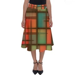 Background Abstract Colorful Perfect Length Midi Skirt