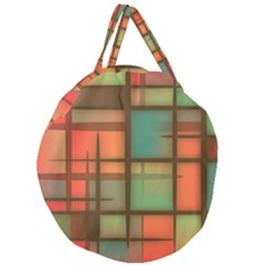 Background Abstract Colorful Giant Round Zipper Tote