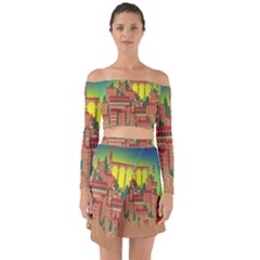 Mountain Village Mountain Village Off Shoulder Top With Skirt Set by Nexatart