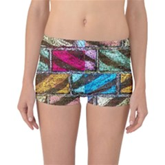 Colorful Painted Bricks Street Art Kits Art Reversible Boyleg Bikini Bottoms by Costasonlineshop