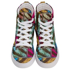 Colorful Painted Bricks Street Art Kits Art Men s Hi Top Skate Sneakers