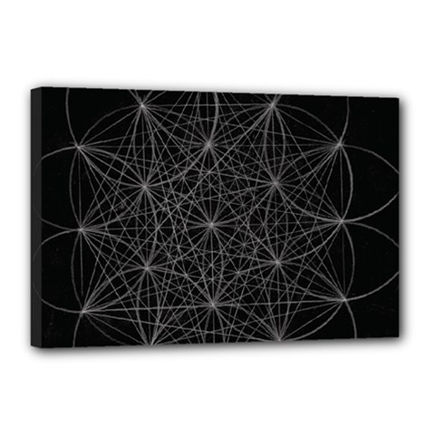 Sacred Geometry Music 144links Canvas 18  X 12  by Cveti