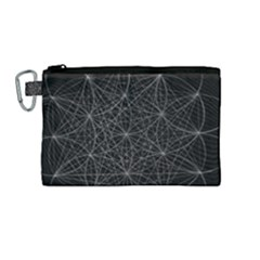Sacred Geometry Music 144links Canvas Cosmetic Bag (medium) by Cveti