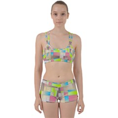Background Abstract Grid Women s Sports Set