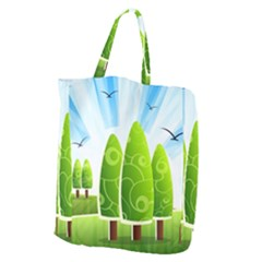 Landscape Nature Background Giant Grocery Zipper Tote