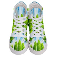 Landscape Nature Background Women s Hi-top Skate Sneakers