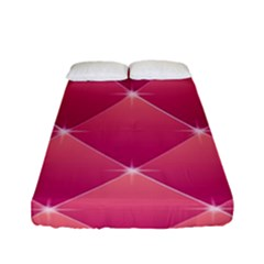 Pink Background Geometric Design Fitted Sheet (full/ Double Size)