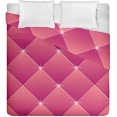 Pink Background Geometric Design Duvet Cover Double Side (king Size)
