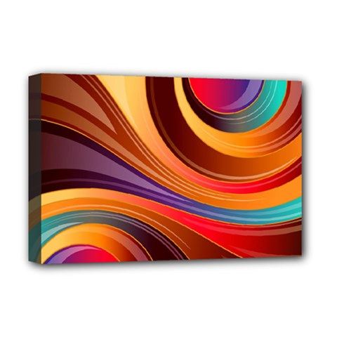 Abstract Colorful Background Wavy Deluxe Canvas 18  X 12