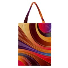 Abstract Colorful Background Wavy Classic Tote Bag by Nexatart