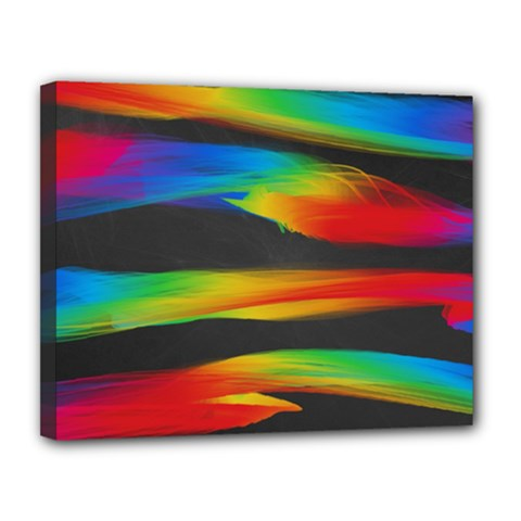 Colorful Background Canvas 14  X 11