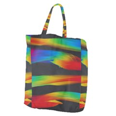 Colorful Background Giant Grocery Zipper Tote