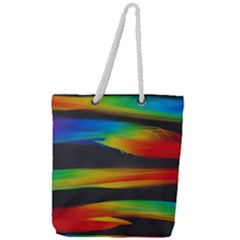 Colorful Background Full Print Rope Handle Tote (large) by Nexatart