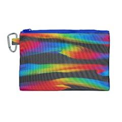 Colorful Background Canvas Cosmetic Bag (large)